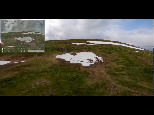 FPV drone downhill Vålådalen Södra Kyrkstensskaftet