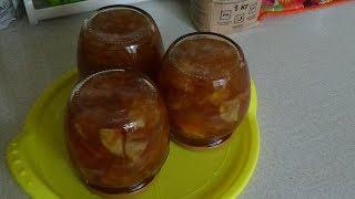 Варенье из яблок и апельсин - очень вкусное! Не классический способ приготовления.