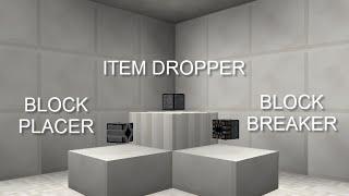 OpenBlocks Bit by Bit: Dropper Breaker Placer
