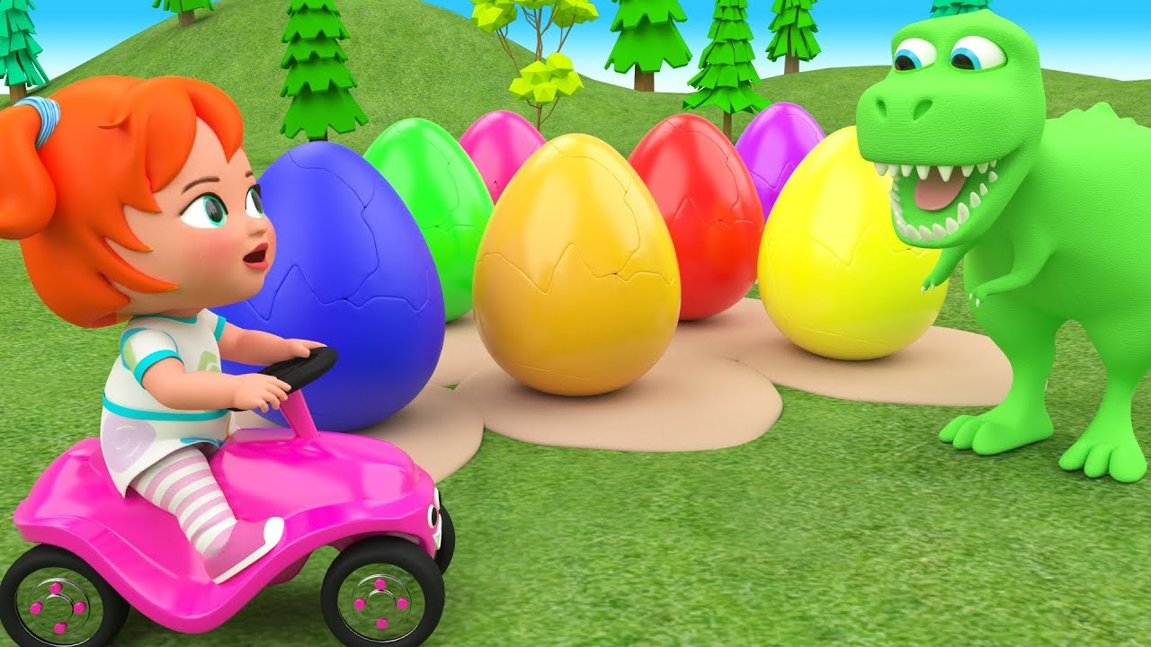 Download Little Baby Girl Fun Learning Colors for Children with Color Eggs Dinosaur Cartoons 3D Kids Edu Play