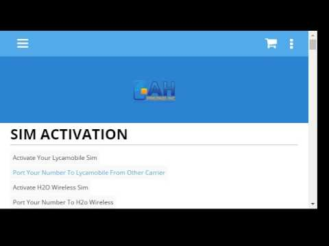 Activate Your Sim Card-Lycamobile-H2o Wireless