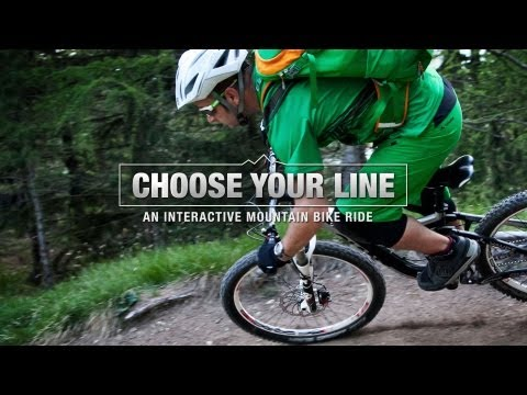 VAUDE Choose your Line -- START -- An Interactive Mountain Bike Ride