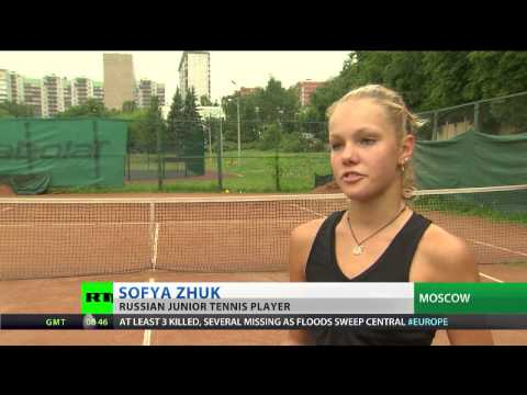 Tennis teen looks to emulate Sharapova's success