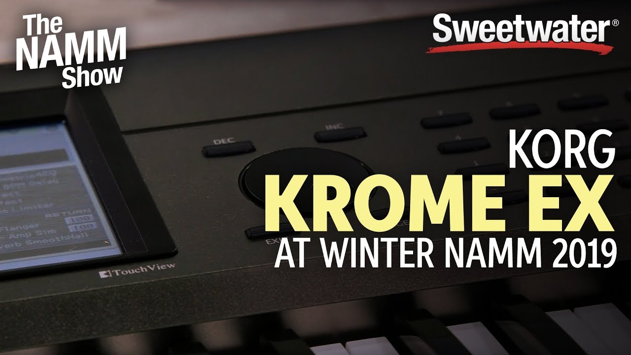 Korg Krome EX at Winter NAMM 2019 | Sweetwater