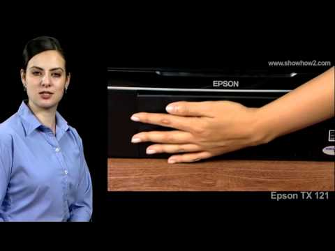 Epson Printer TX121 - How to Clean the Interior of the Printer