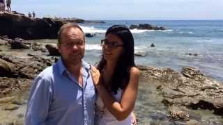 Laguna Beach Wedding Testimonial with toes in the sand from John  & Mercedes