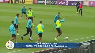 Seleção brasileira treina com desfalque antes de folga