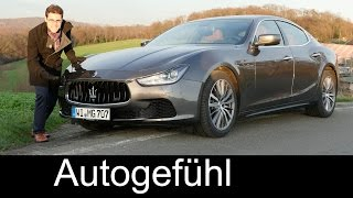 Maserati Ghibli SQ4 FULL REVIEW test driven top AWD V6 petrol version 2016/2017 - Autogefühl