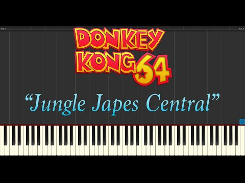 Donkey Kong 64 - Jungle Japes Central (Piano Tutorial Synthesia)