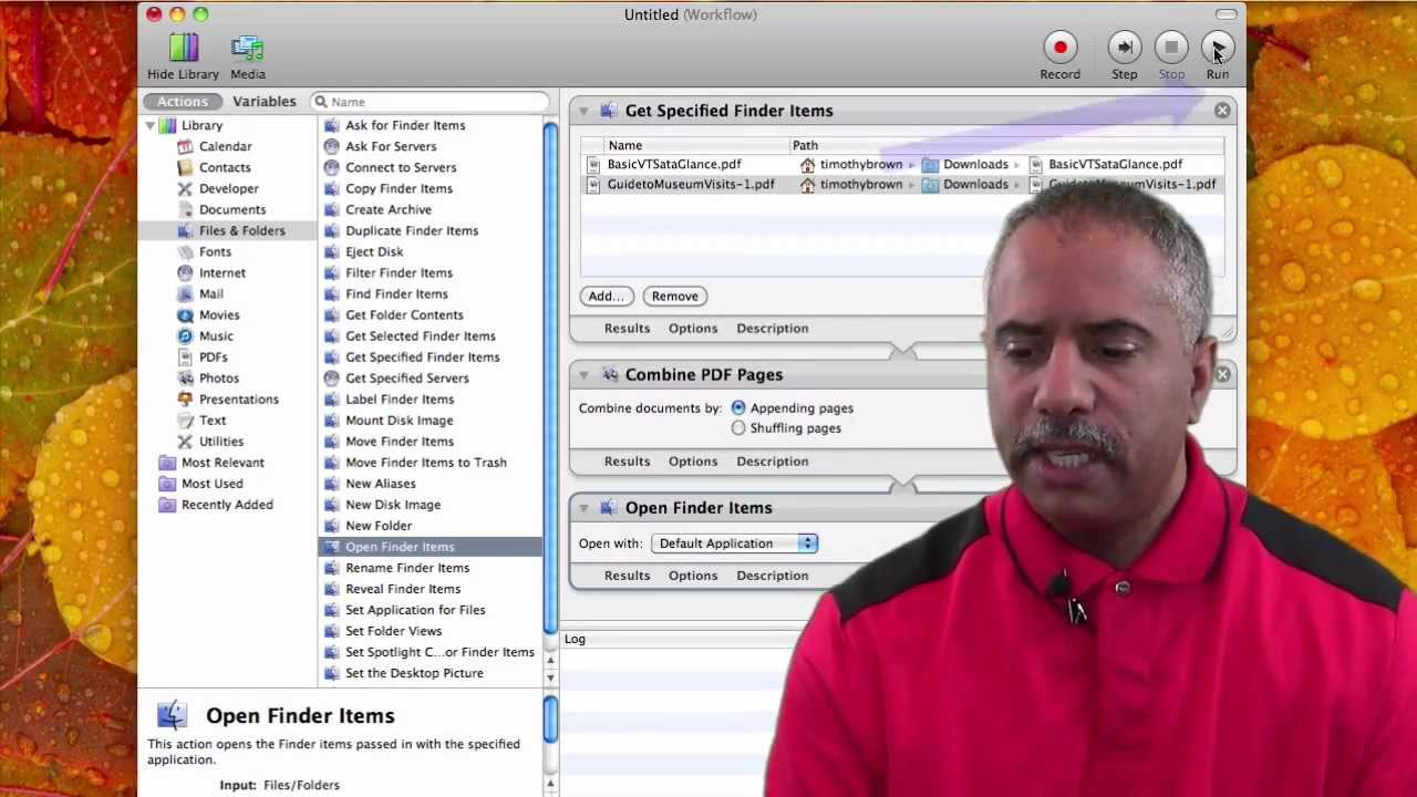 UNIRE FILE PDF MAC AUTOMATOR EPUB