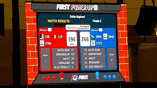 2018 FRC Dallas Regional Finals FIRST Robotics POWER UP f1 fm1 f2 fm2 #2018txda