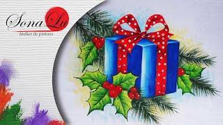 Presente de Natal em Tecido por Sonalupinturas