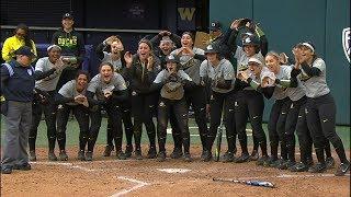 Highlights: No. 2 Oregon softball takes down No. 4 Washington in top-five battle