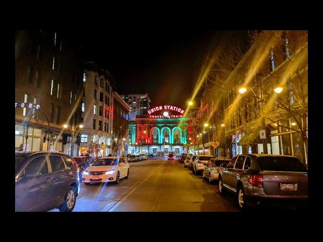 Holiday lights Downtown Denver 2018
