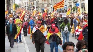 Manifestación antiindependentista de Tabarnia en Barcelona