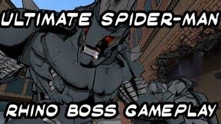 Ultimate Spider-man Gameplay Rhino Boss Fight