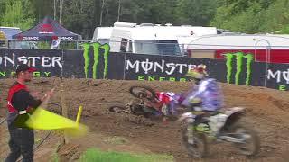 Julien Lieber crash - MXGP of Sweden