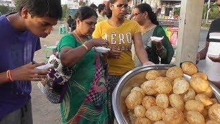 South Indian People Enjoying Panipuri | Besides Lake View Road Hyderabad