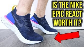 IS THE $150 NIKE EPIC REACT FLYKNIT WORTH IT? *BETTER THAN THE ULTRABOOST?*