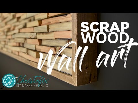 Scrap wood wall art | How to make art for free