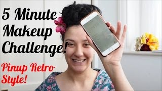 5 Minute Makeup Challenge - Pinup Retro Style | Atomic Amber