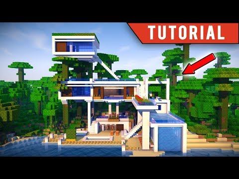 Minecraft: How To Build a JUNGLE Village / Modern TreeHouse