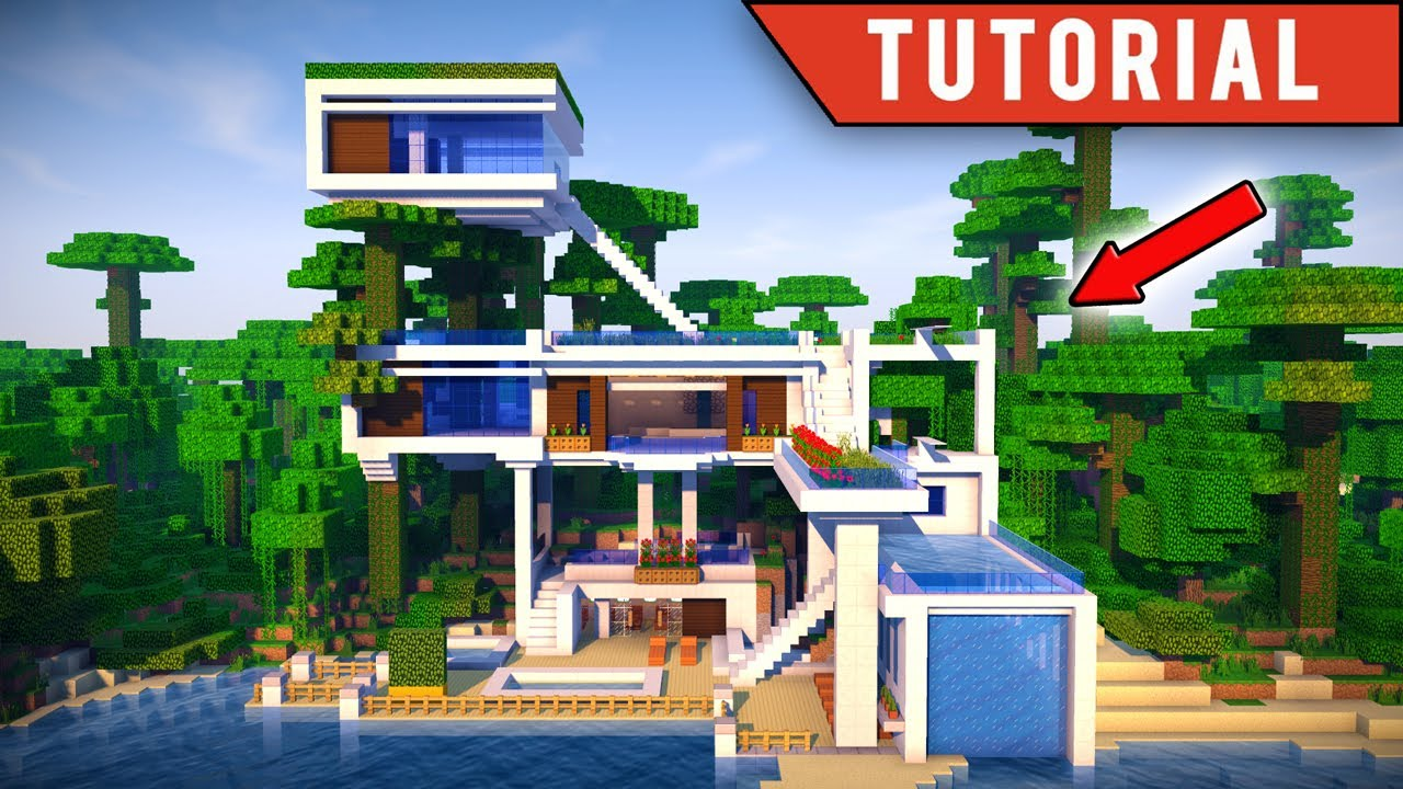 Minecraft How To Build a JUNGLE Village Modern TreeHouse