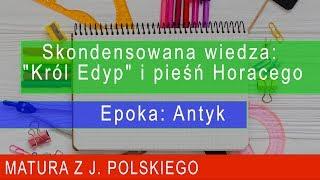 """142. Skondensowana wiedza: """"Król Edyp"""" i pieśń Horacego. Epoka: Antyk. Matura z polskiego"""
