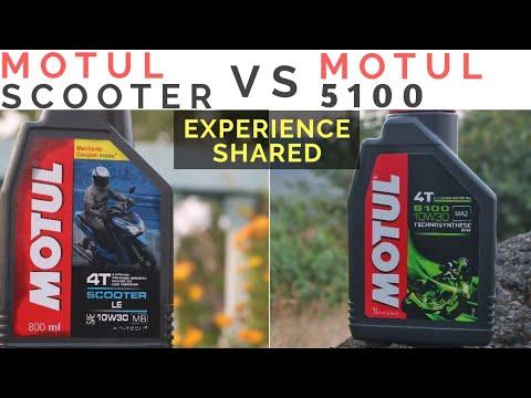MOTUL 5100 VS MOTUL SCOOTER LE   TVS JUPITER ENGINE OIL CHANGE, HOW TO CHANGE ENGINE OIL ON SCOOTERS