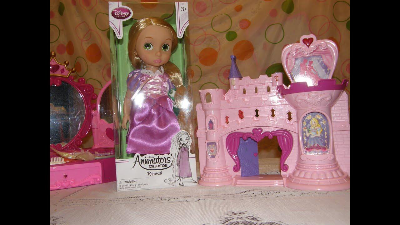 Disney Princess Кукла Рапунцель в сияющем платье X9381) - YouTube