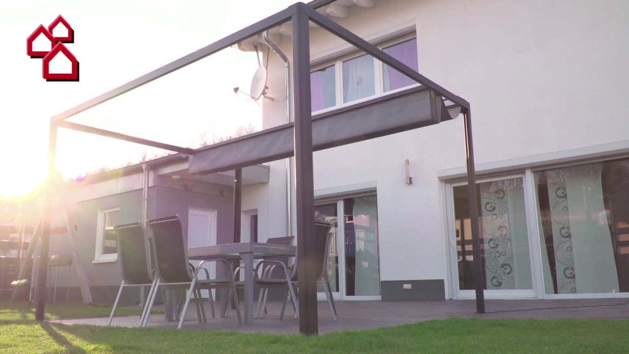 elektrischer led raffpavillion bauhaus youtube. Black Bedroom Furniture Sets. Home Design Ideas