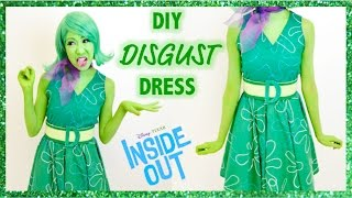 DISGUST INSIDE OUT COSTUME! - Dress, Belt, Scarf- No Sew!