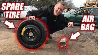 Download How High Can an Airbag LAUNCH a Spare Tire?? Mp3 and Videos