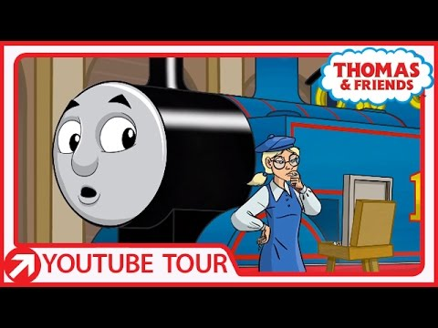 Thomas Meets an Artist in Paris | YouTube World Tour | Thomas & Friends