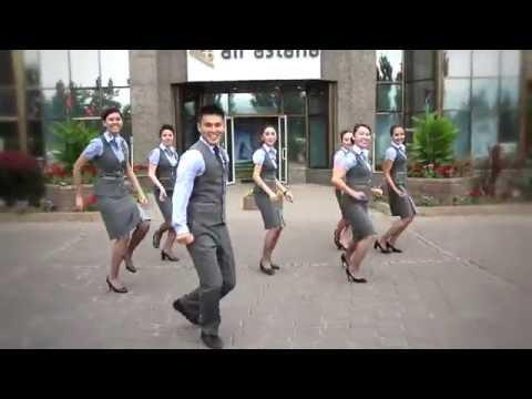 Running man challenge & Air Astana!
