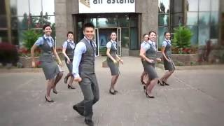 Running man challenge & Air Astana!