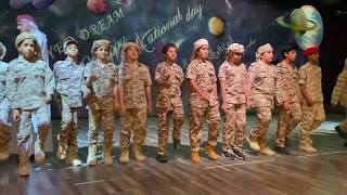Ajyal Al Falah Grade 5, 6 and 7 students' Military Show performance
