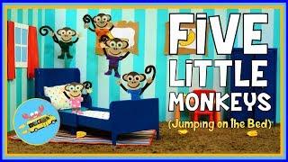 Five Little Monkeys | Stop Motion Animation Nursery Rhymes by Moo Da Moo