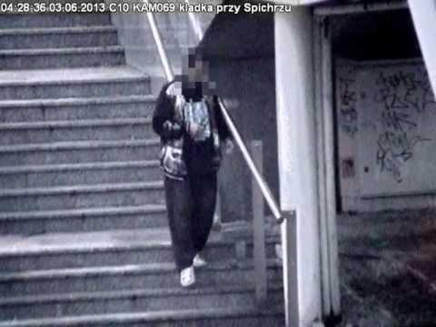 Bydgoszcz. Pijany złodziej chciał ukraść balustradę z kładki przy Operze Nova