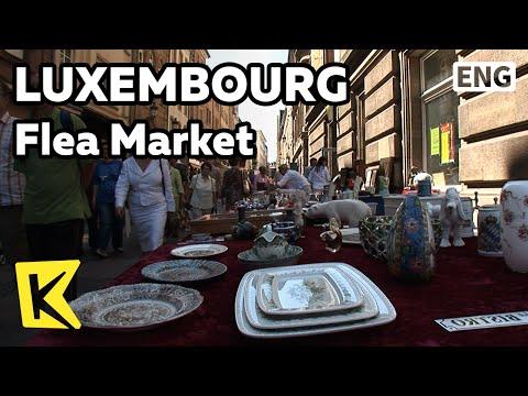 【K】Luxembourg Travel[룩셈부르크 여행]기욤광장,다르메스광장 벼룩시장/Place Guillaume/Flea Market/Fruit/Place d'Armes