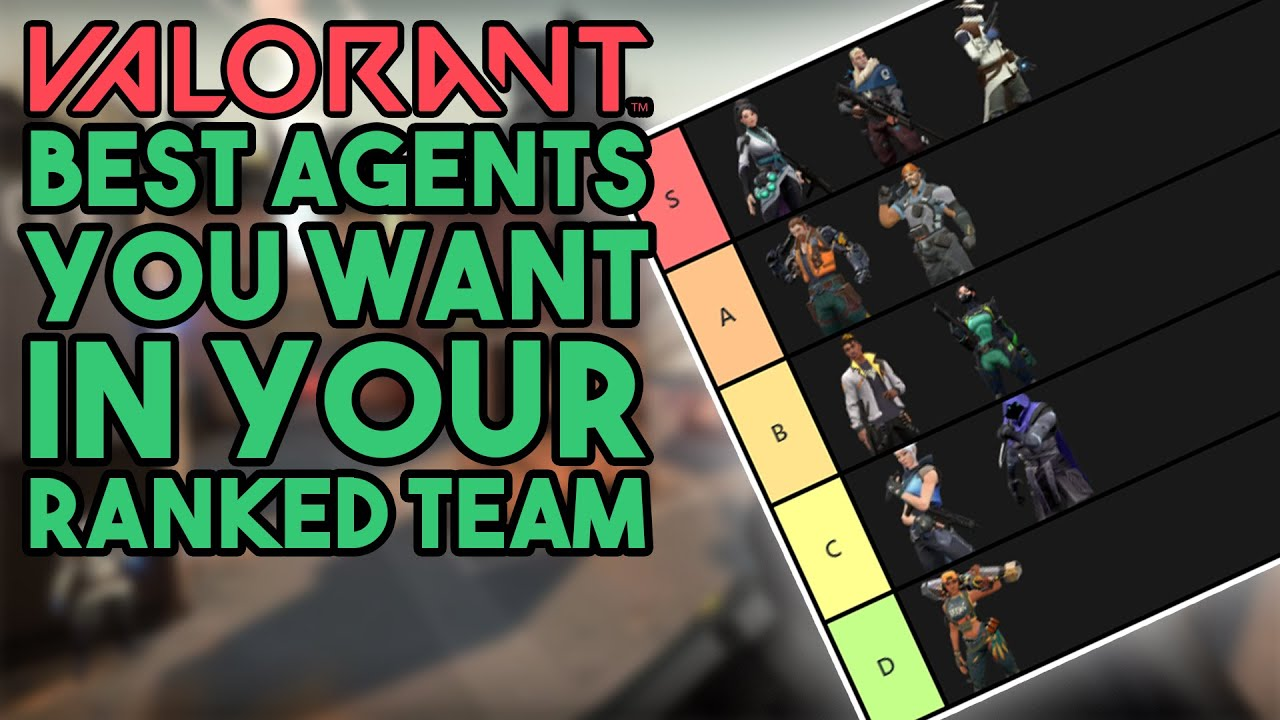Valorant Best Agents For Ranked Valorant Tier List Youtube