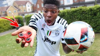 YOUTUBER BREAKS Kids RARE 1000mph Fidget Spinner using a football