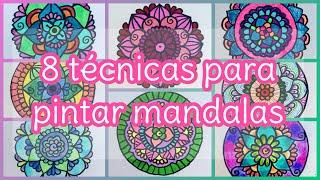 8 Técnicas diferentes para pintar mandalas | Colorful Mandalas MP3