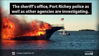 WATCH - Casino Shuttle Boat Catches Fire