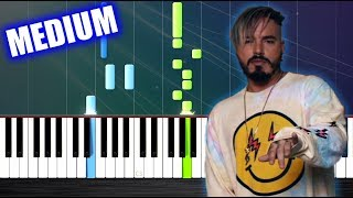 J. Balvin Willy William Mi Gente - Piano Tutorial MEDIUM by PlutaX.mp3