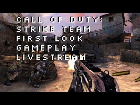 Call of Duty Strike Team First Look Gameplay Livestream iPad iPhone iPod 5G Only