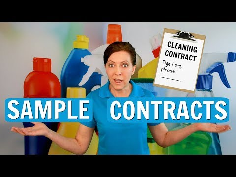 Sample Contract For House Cleaning