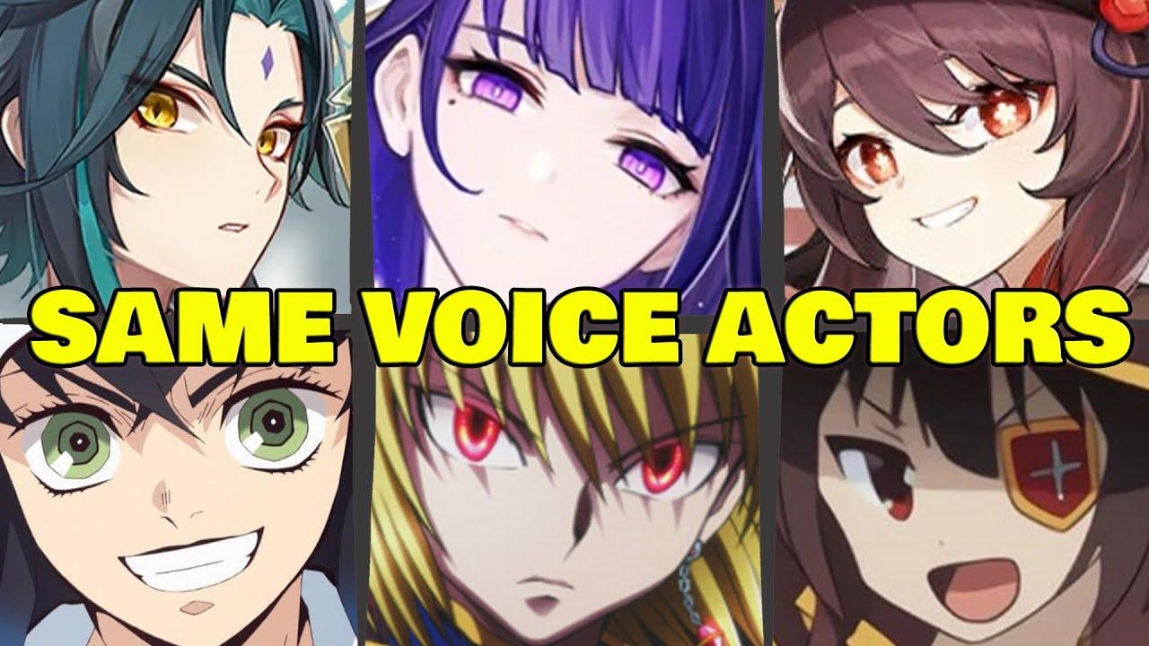 Genshin impact All Characters Japanese Dub Voice Actors Seiyuu Same Anime Characters