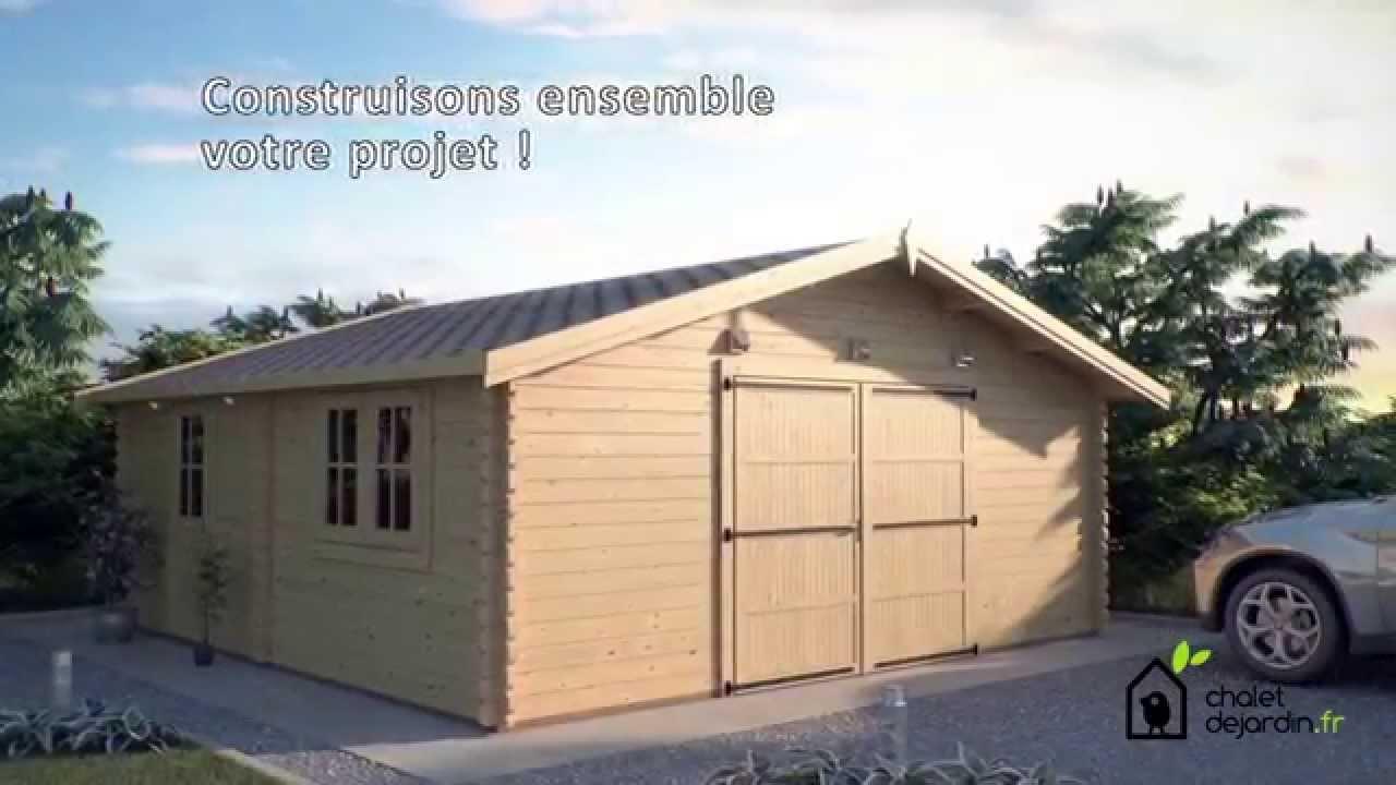 Votre Garage En Bois Et Votre Espace De Stockage | Chaletdejardin.fr    YouTube