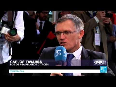 L'invité de l'économie - Carlos Tavares, PDG de PSA Peugeot Citroën
